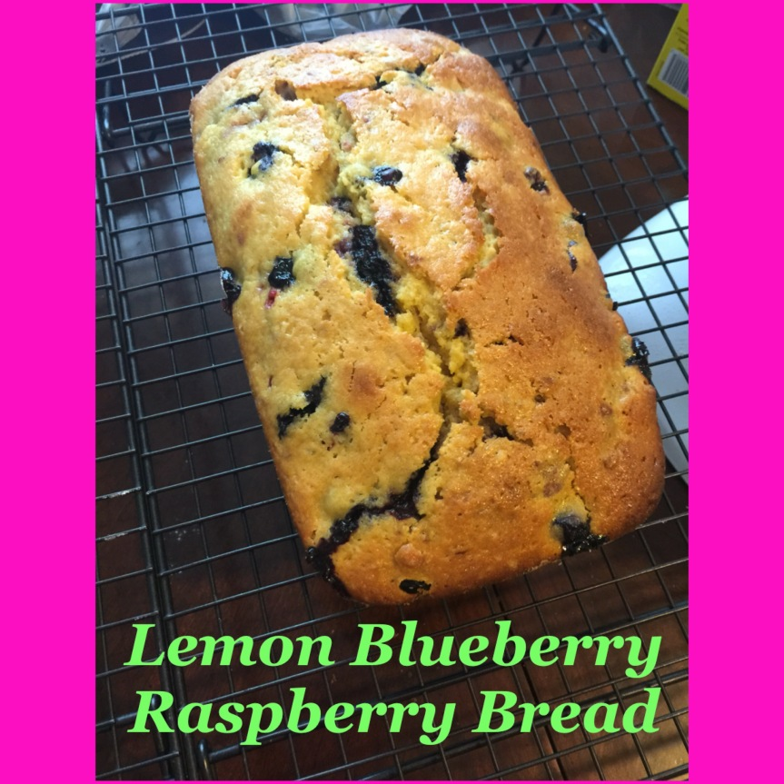 Lemon Blueberry Raspberry Bread
